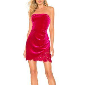 Amanda Uprichard Mini Dress Red Velvet Devyn Sz S